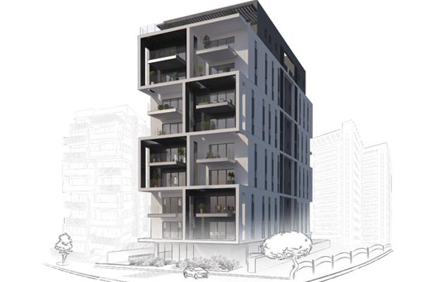 הדמיית הבניין החדש
